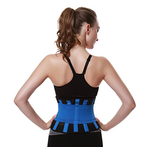 FeelinGirl Damen Waist Cinchr Traning Sport Belt Fitness Slimming Girdle Gurte Blau
