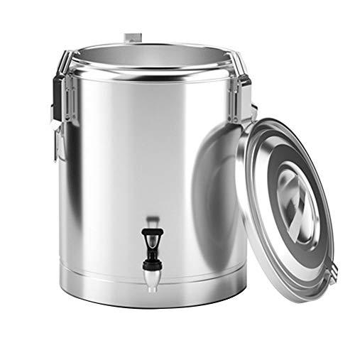 S-pomy Glühweinkocher, Heißwasserspender, Thermoskanne Tee, 10L, Teemaschine, Teeautomat Teekocher Wasserkocher Kommerzielle Heißgetränkespender für Buffet und Party, Edelstahl