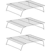 Premier Housewares - Juego de 3 rejillas plegables para enfriar, color cromo