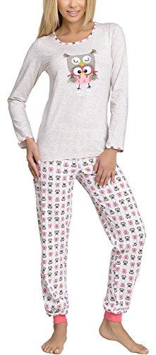 Merry Style Damen Schlafanzug 980 (Beige, 38 (Herstellergröße: M))