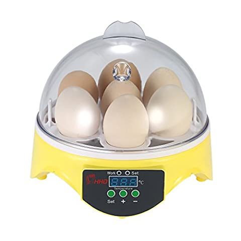 Anself Mini Digital 7 Eggs Incubator Hatcher Machine Automatic Temperature Control for Chicken Duck Bird