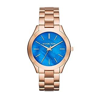 Michael Kors MK3494 – Reloj de cuarzo con correa de acero inoxidable para mujer, color azul