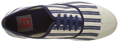 Bensimon - Tennis Lacet Rayures Transat, Basse Donna Blu (Bleu)