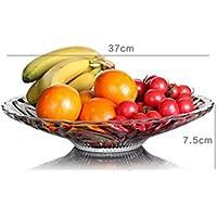 Piatto di frutta casa comune Piastra alta Vetro Trasparente Con piatto di frutta creativo creativo frutta secca di frutta Piatto Insalata Piatto Dolciumi Piastra facile da usare ( colore : 7 )