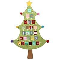 Gisela Graham : Fabric Christmas Tree Advent Calendar