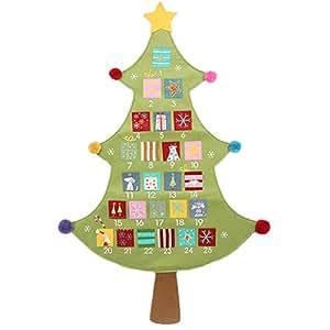 Gisela graham tissu d 39 arbre de no l calendrier de l 39 avent jeux et jouets - Arbre de l avent ...