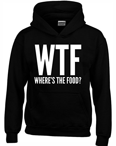 Designs by The Crown 'Wheres The Food' Funny Cool Gift Unisex Hoodies for Men, Women & Teenagers