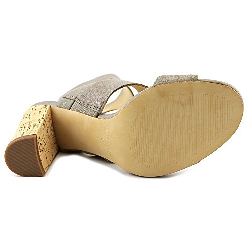 Marc Fisher Paxtin Cuir Sandales Light Gray