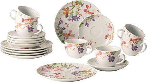 vivo Villeroy & Boch 1952767126 Flower Meadow Kaffeeset 18tlg (1 Set)