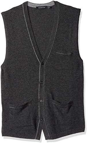 Bugatchi Herren Lightweight V-Neck Sweater Vest Pulloverweste, Graphit, Mittel Lightweight V-neck Sweatshirt
