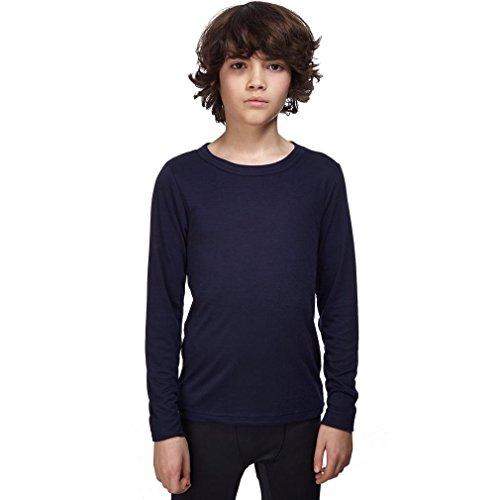 Peter Storm Kids' Unisex Thermal Long Sleeve Crew Baselayer Top, Navy, 3-4 Years