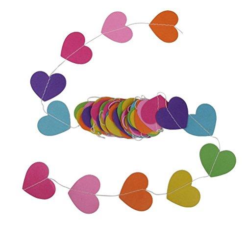 ULTNICE Cardboar papel en forma de corazón colgante Adorno decoración para boda fiesta bebé ducha vivero