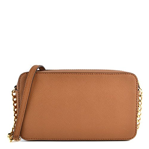 MICHAEL by Michael Kors Jet Set Travel Borsa a Tracolla in Pelle Oro Donna Acorn