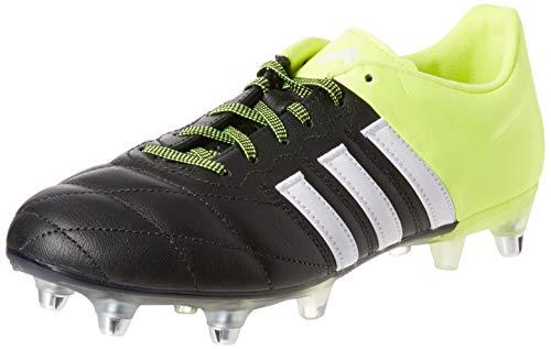 Ace Leder (adidas Herren Fussballschuhe ACE 15.2 SG Leder core black/ftwr white/solar yellow 39 1/3)