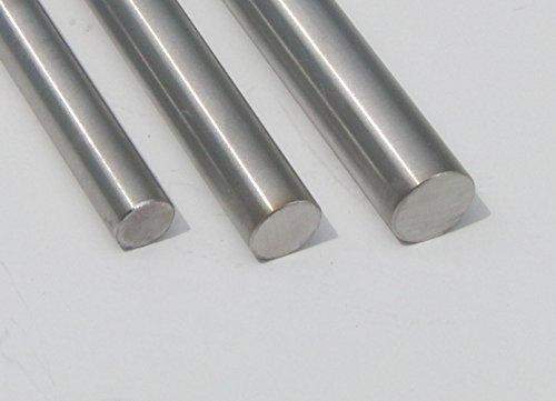 Edelstahl Rundstahl Stabstahl Rundstab V2A geschliffen Ø 10 mm, 12 mm, 14 mm Korn 240 bis 2m Länge, Länge:Ø 10mm Länge 1m - 100cm - 1000mm
