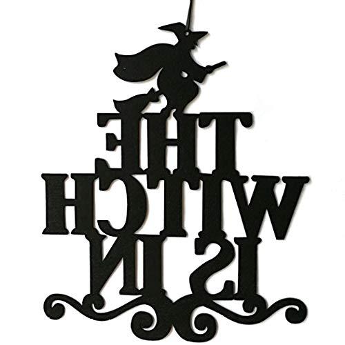 Hängende Zeichen Die Hexe Ist Im Dekor Hängende Plaque Halloween Dekoration ()