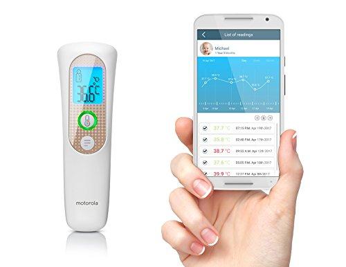 Motorola termómetro inteligente frente sin contacto