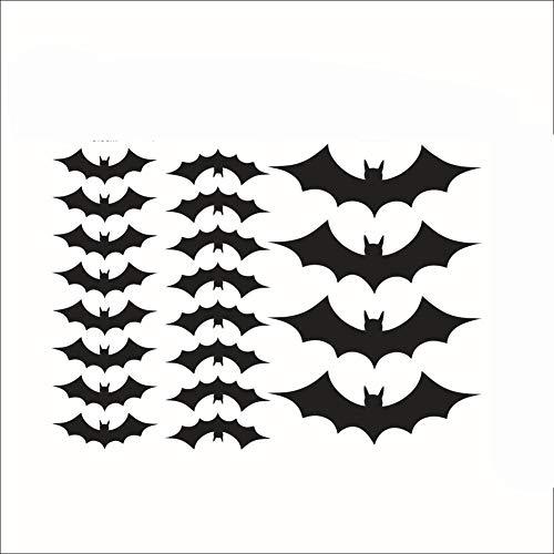 Lichi Wandtattoo Halloween Fenster Wand-Aufkleber für Zuhause 20 Pcs Bats