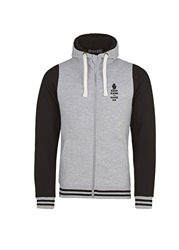 Brand88 Keep Kame and Hame Ha, Kids Urban Varsity Hoodie