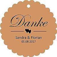 25 Geschenkanhänger Papieranhänger Hochzeit Tags Etiketten Danke