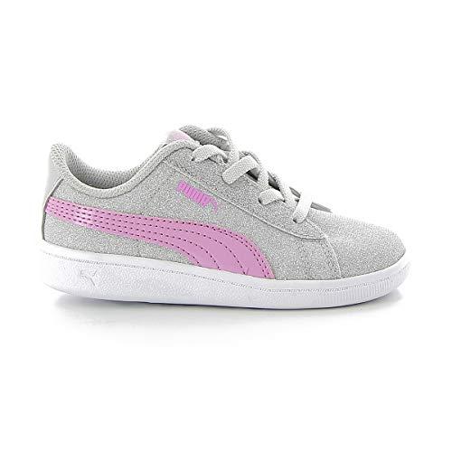Puma Vikky Glitzer AC Inf Girls Babys Trainer Silver 367638 01