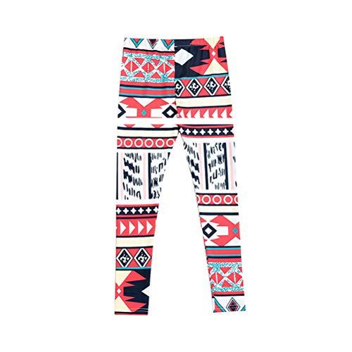 Zhhlinyuan Familie Passende Weihnachten Pyjamas Hosen - Hässliche Weihnachten Muster Stretch für Frauen Mädchen Herbst