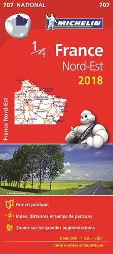 Carte France Nord-Est Michelin 2018