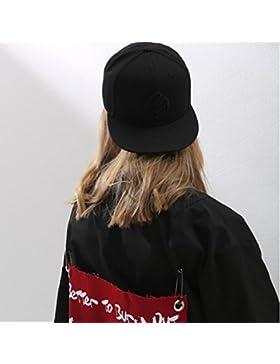 Gorra de béisbol de algodón bordado pequeño Sombrero de béisbol ajustable Sombrero de papá para mujer , Negro