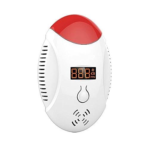 GuDoQi Détecteur De Monoxyde De Carbone Alarme LED Affichage Numérique Son Et Lumière Double Alarme Pour La Sécurité De La Maison