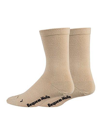 TippTexx24 8 Paar Gesundheitssocken EXTRA-BREIT und EXTRA-WEITE SOCKEN für viele Problemfüße (47/49-8 Paar Vorteilspack, Beige) (Weite Für Extra Männer Socken)