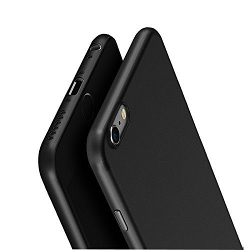 KAPA Super Thin Matte Finish [Full Coverage] Lightweight Back Case Cover for Apple iPhone 6 6S - Black