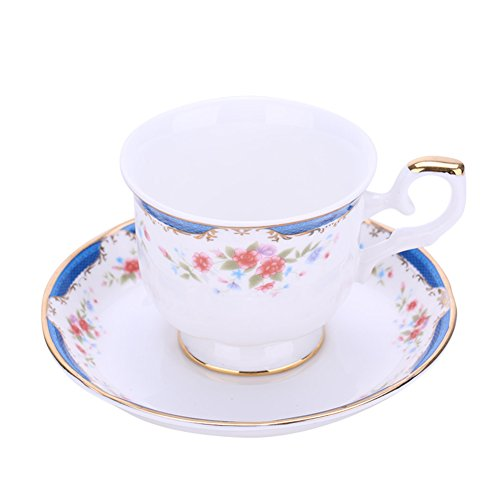 Coppa europea giardino rose caffè/ red bone China