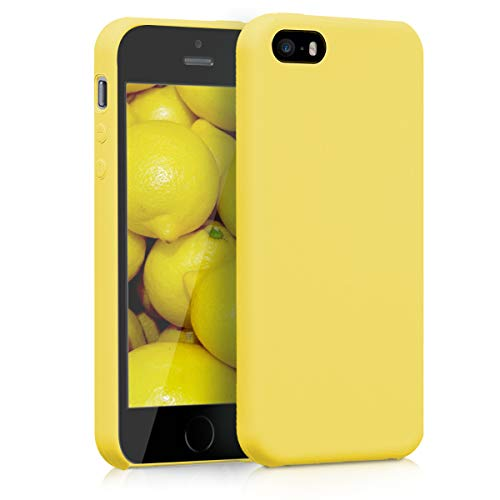 kwmobile Apple iPhone SE / 5 / 5S Hülle - Handyhülle für Apple iPhone SE / 5 / 5S - Handy Case in Gelb matt