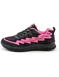 0b60cf9756f4f Logobeing Zapatillas de Deporte con Cojines de Aire Calzado de Running Net  para Estudiante Volar Zapatos