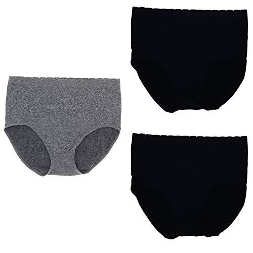 c4eb305069c0 Delta Burke Intimates Women's Plus Size Microfiber Hi-Rise Brief Panties  (3Pr) (