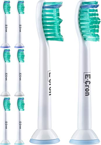 E-Cron Zahnbürstenaufsätze, Kompatibel Ersatzbürsten für Philips Sonicare ProResults und DiamondClean. Passende Aufsteckbürsten an mehreren elektrischen Zahnbürsten von Philips, 8 Stk (Weiss und Grün) (Sonicare Hx6211 Bürstenköpfe)