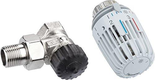 Heimeier HEIMSETE12 Thermosat Set, Ventil 2201 Eckform und Kopf