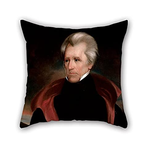 KooNicee Oil Painting Ralph Eleaser Whiteside Earl - Andrew Jackson Throw Christmas Pillow Case Best For Bedding Pub Son Boys Dinning Room Gril Friend 20 X 20 Inches / 50 By 50 Cm(twice