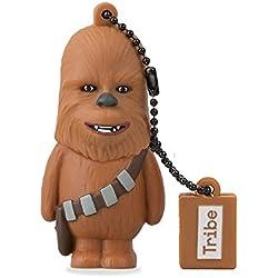 Tribe Disney Star Wars Chewbacca Chiavetta USB da 8 GB Pendrive Memoria USB Flash Drive 2.0 Memory Stick, Idee Regalo Originali, Figurine 3D, Archiviazione Dati USB Gadget in PVC con Portachiavi - Marrone