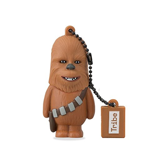 Tribe Disney Star Wars Chewbacca USB Stick 8GB Speicherstick 2.0 High Speed Pendrive Memory Stick Flash Drive, Lustige Geschenke 3D Figur, USB Gadget aus Hart-PVC mit Schlüsselanhänger - Braun
