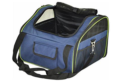 nanook Auto Transporttasche, Tier-Tragetasche, 43 x 37 cm, für kleine Hunde, Katzen und Nager, Farbe: blau