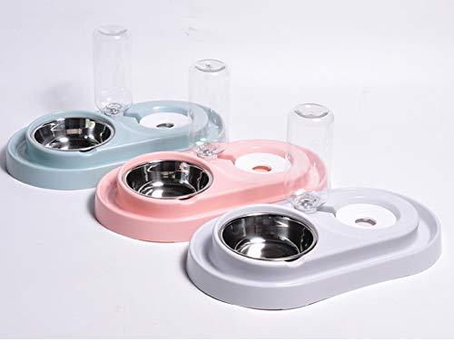 Neuer Ring Cat Bowl Hund Bowl Hund Becken Doppel-Schüssel leck-sichere Katze Becken Pet Automatic Refill Diet Pet (Refill-hund-schüssel)