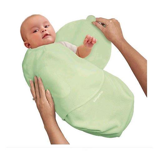 SwaddleMe 73424 - B3G Baby-Groß/Baumwolle/grün - Schreibabys Ganzkörper-Pucksack Large