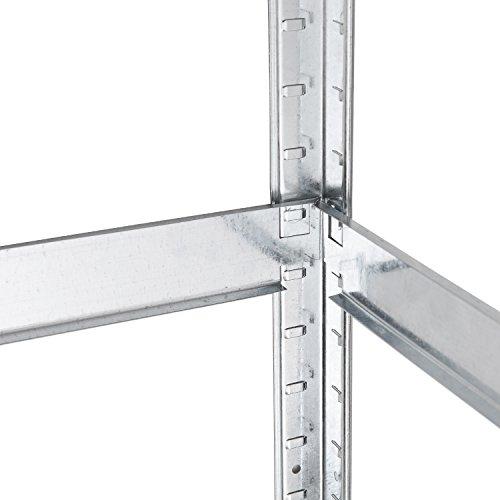Lagerregal verzinkt belastbar bis 875 kg – Maße: 180 x 90 x 40 cm Regal Steckregal Kellerregal Werkstattregal Schwerlastregal - 5