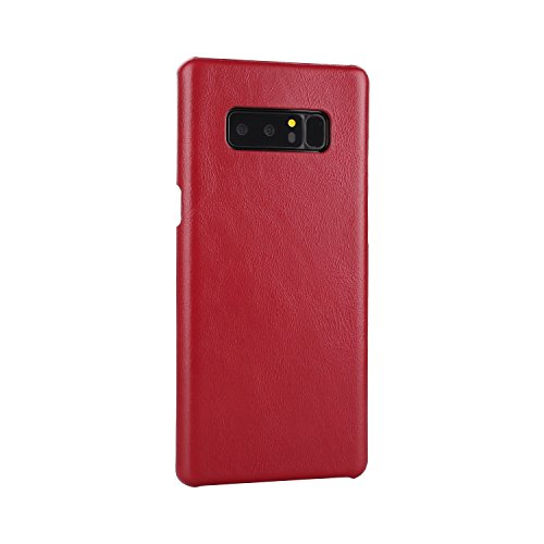 EKINHUI Case Cover Frosted Style Genium Leder Rüstung Shell Back Cover Case für Samsung Galaxy Note 8 ( Color : Red ) Red