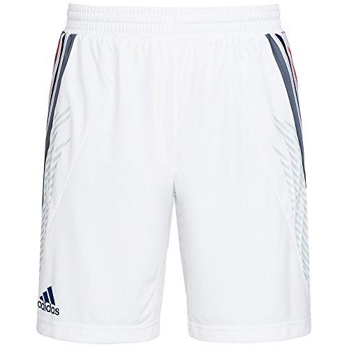 Adidas-Pantaloncini corti Adidas della squadra maschile della Francia 2014, colore: bianco bianco L