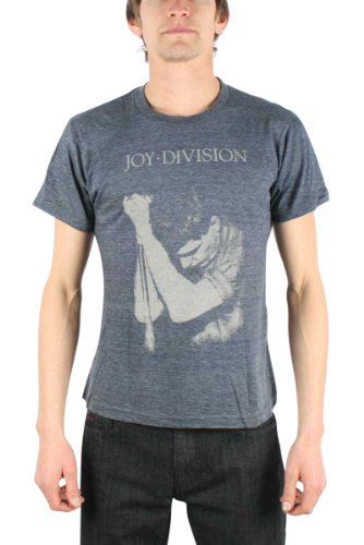 Joy Division - - Ian Curtis Men's T-Shirt in Heather Navy, Small, Heather Navy (Division Top T-shirt Blaues)