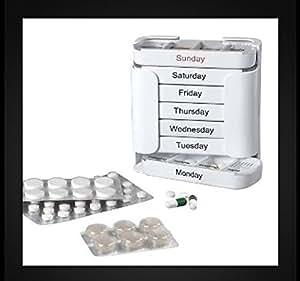 Pilulier 7jours Distributeur de comprimés Boîte de rangement