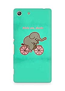 Amez designer printed 3d premium high quality back case cover for Sony Xperia M5 (Cycling Elephant)