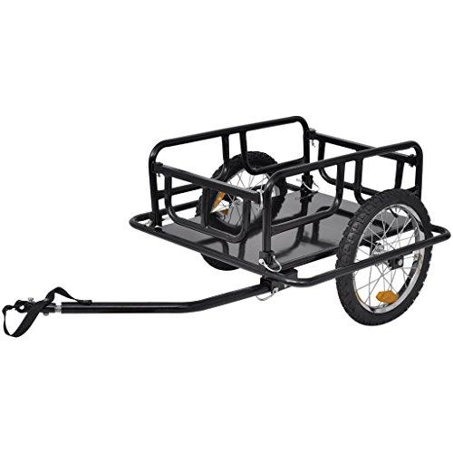 vidaXL Lastenanhänger Fahrradanhänger Transportanhänger Anhänger klappbar 16″Räder 50kg